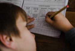 Positive Ally child doing homework